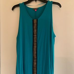 Teal Vince Camuto Blouse w/ Gorgeous Beaded Front